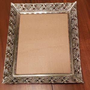 "Vintage Silver/Bronze Tone 10"" x 12"" Metal Frame"